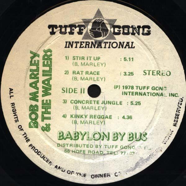 Bob Marley & The Wailers – Babylon By Bus album art 7
