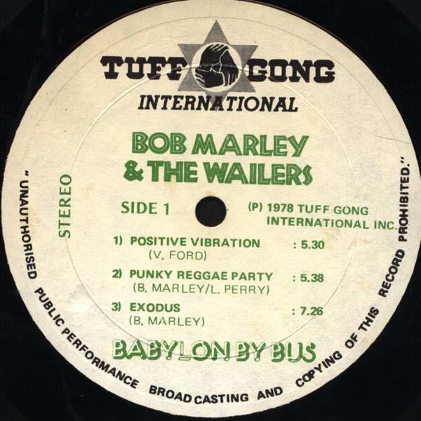 Bob Marley & the Wailers – Babylon By Bus album art 8