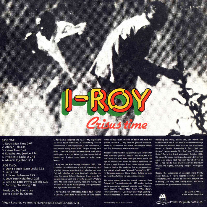 I-Roy – Crisus Time album art 2