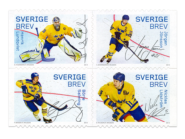 Hockeyhjältar stamp series