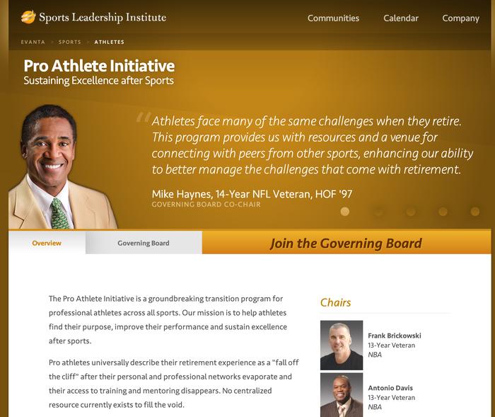 Evanta website 1