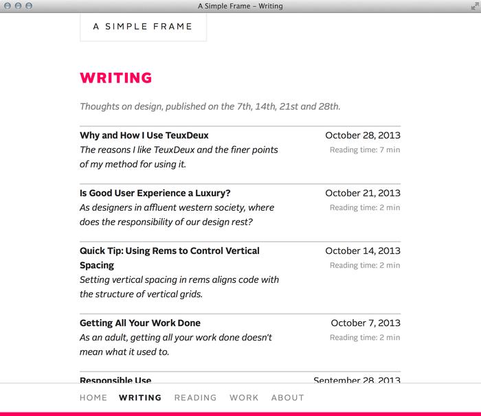 A Simple Frame website 3
