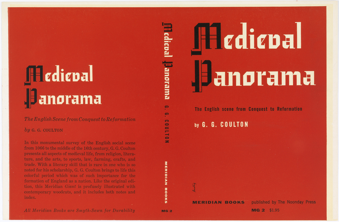 Medieval Panorama by G. G. Coulton, Meridian Books, 1955 1