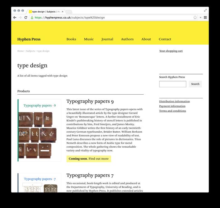 Hyphen Press Website 2