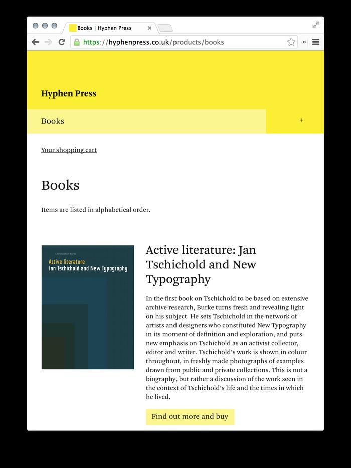 Hyphen Press Website 4