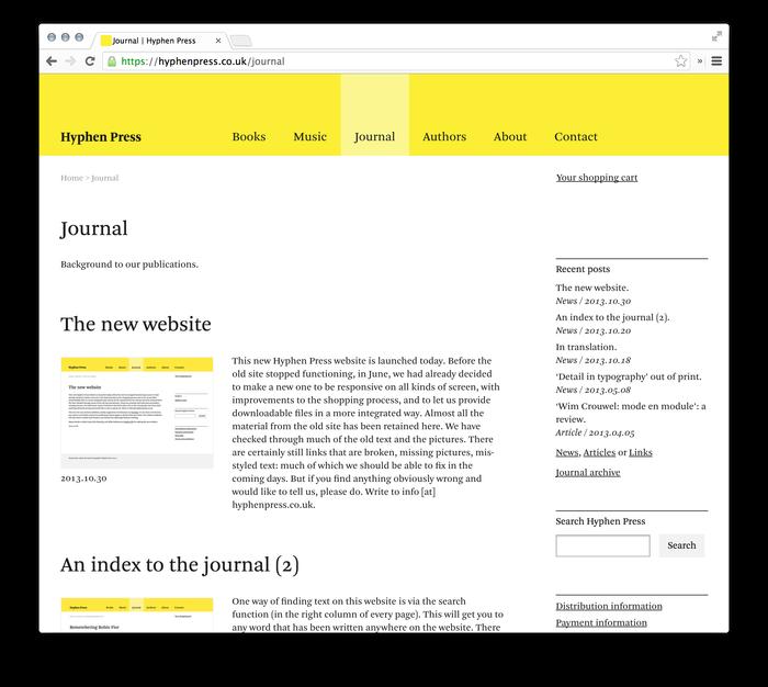 Hyphen Press Website 5