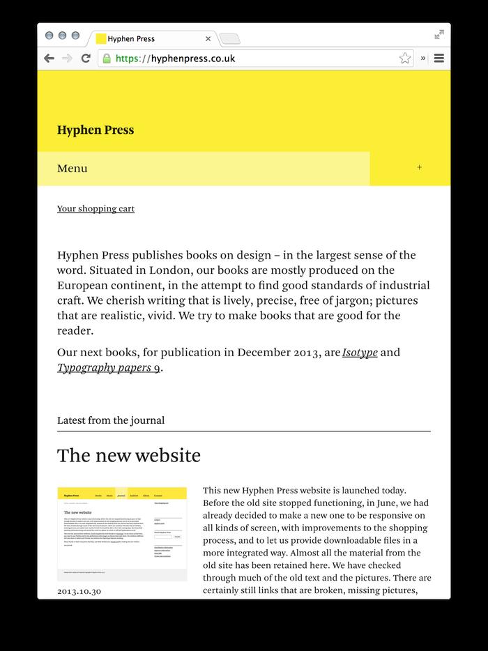 Hyphen Press Website 7