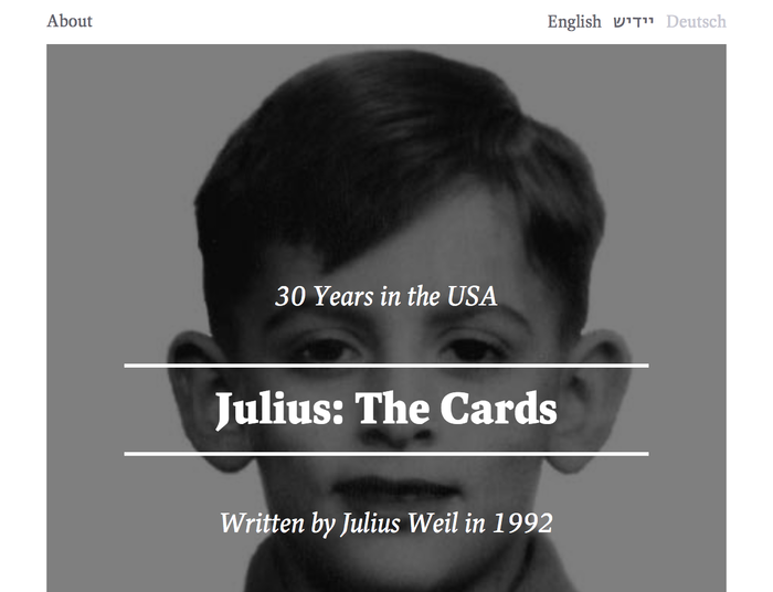 Julius: The Cards 1