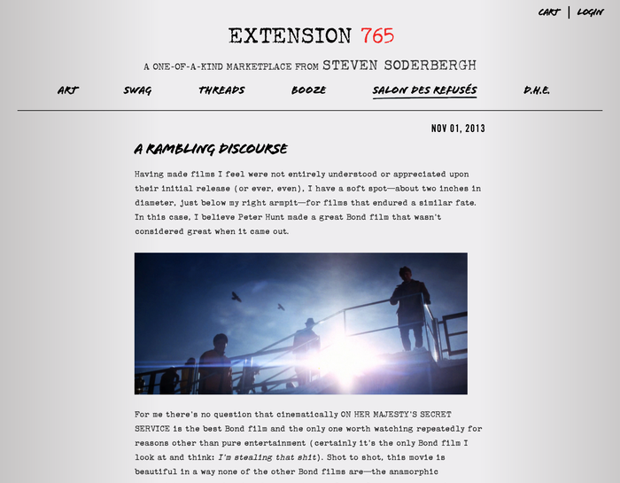 Extension 765: A Marketplace from Steven Soderbergh 2