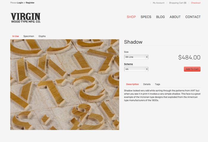 Virgin Wood Type Website 3