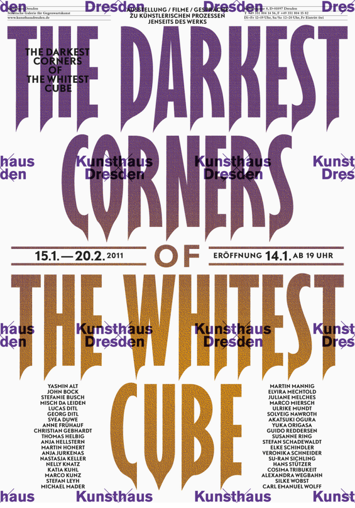 The Darkest Corners of The Whitest Cube at Kunsthaus Dresden