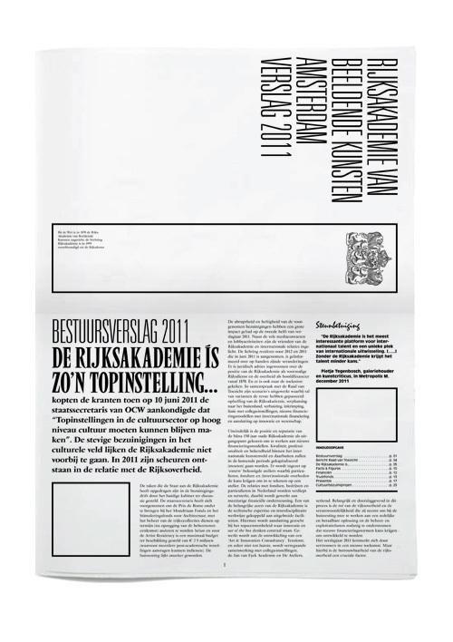 Rijksakademie van Beeldende Kunsten Amsterdam Verslag 2011 3