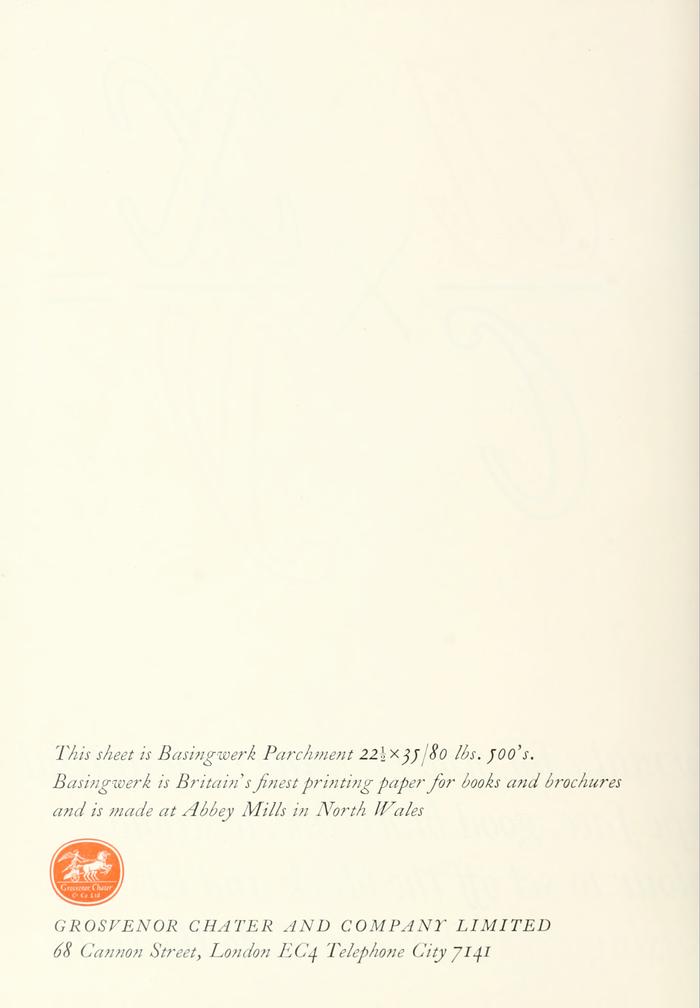 Basingwerk Parchment Ad 1