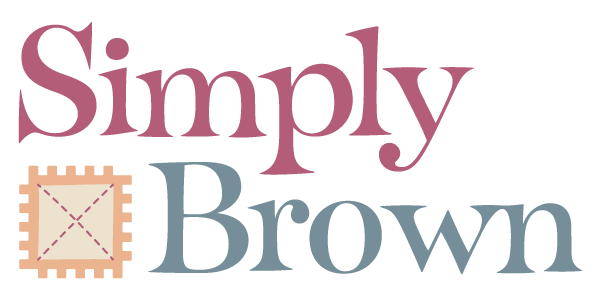 Simply Brown logotype.