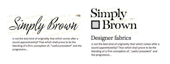 Simply Brown logotype.