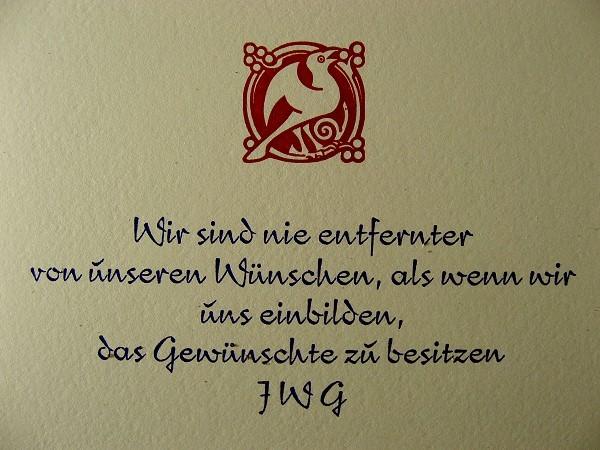 Goethe Aphorism Card 2