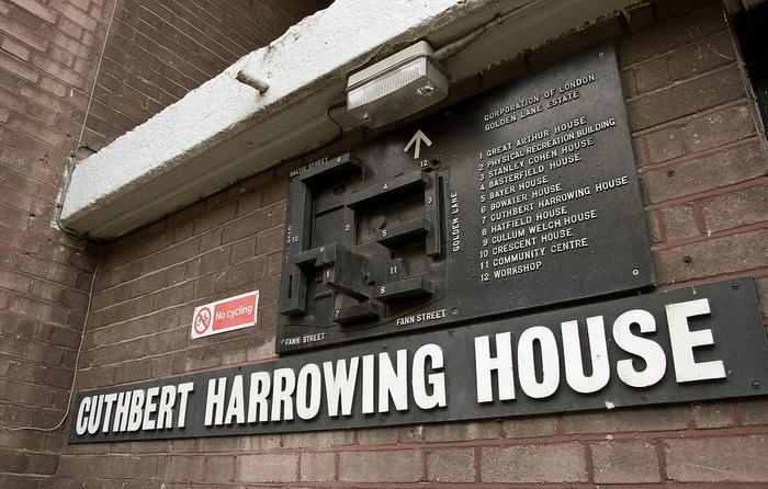 Golden Lane Estate Map: Cuthbert Harrowing House