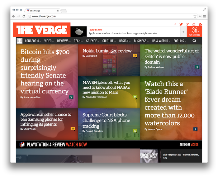 The Verge Logo and Website 1