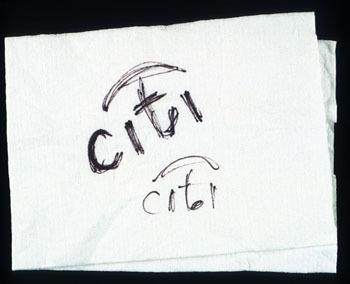 Paula Scher's napkin sketch, 1998.
