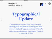 Readymag Newsletter