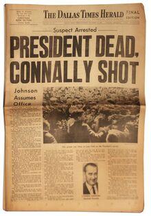 <cite>The Dallas Times Herald</cite>, Nov. 22, 1963