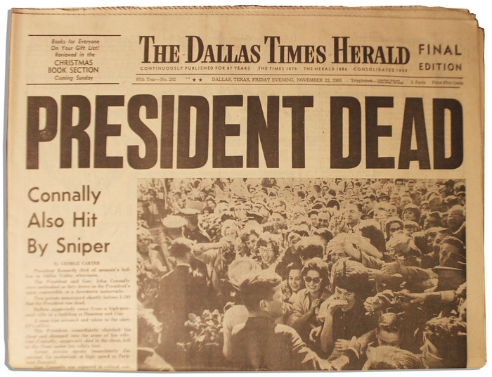 The Dallas Times Herald, Nov. 22, 1963 1