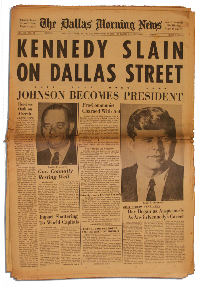 Dallas Morning News, Nov. 23, 1963 1
