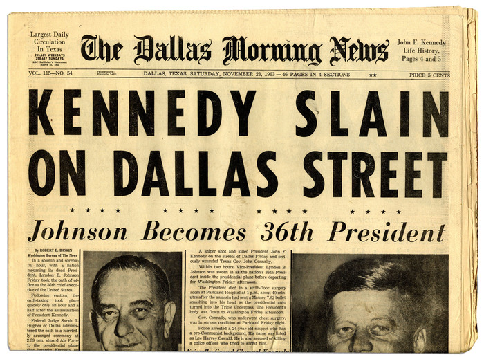 Dallas Morning News, Nov. 23, 1963 2