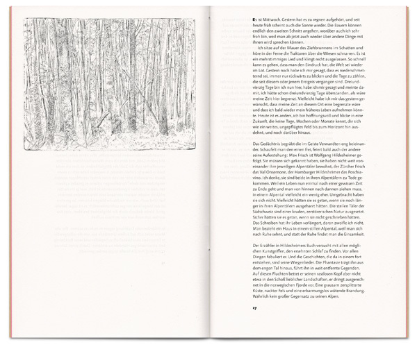 The book includes three etchings by Markus Orsini-Rosenberg.