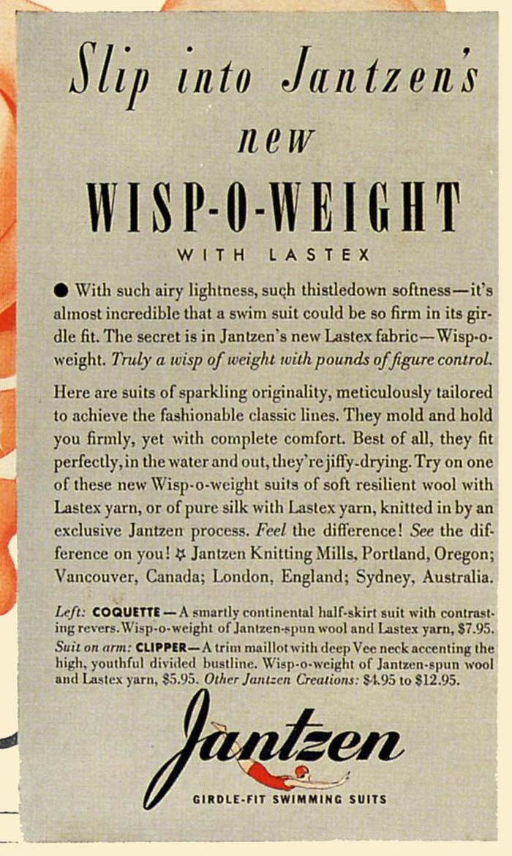 Jantzen Swimwear Ads, 1938–41 1