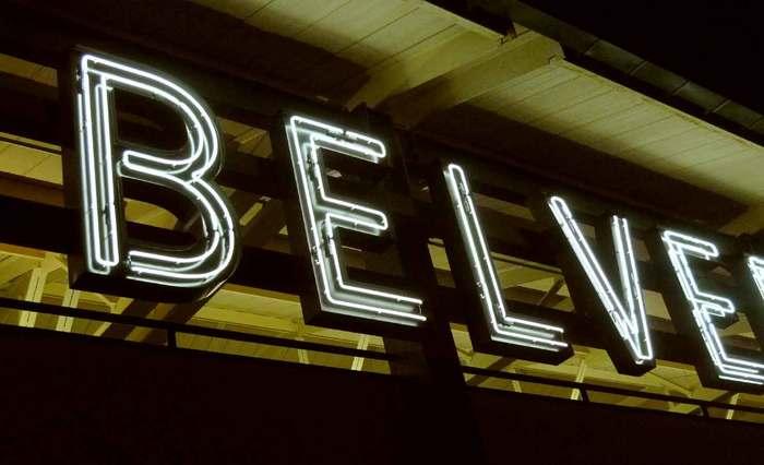 Belvedere Square Market neon sign 3