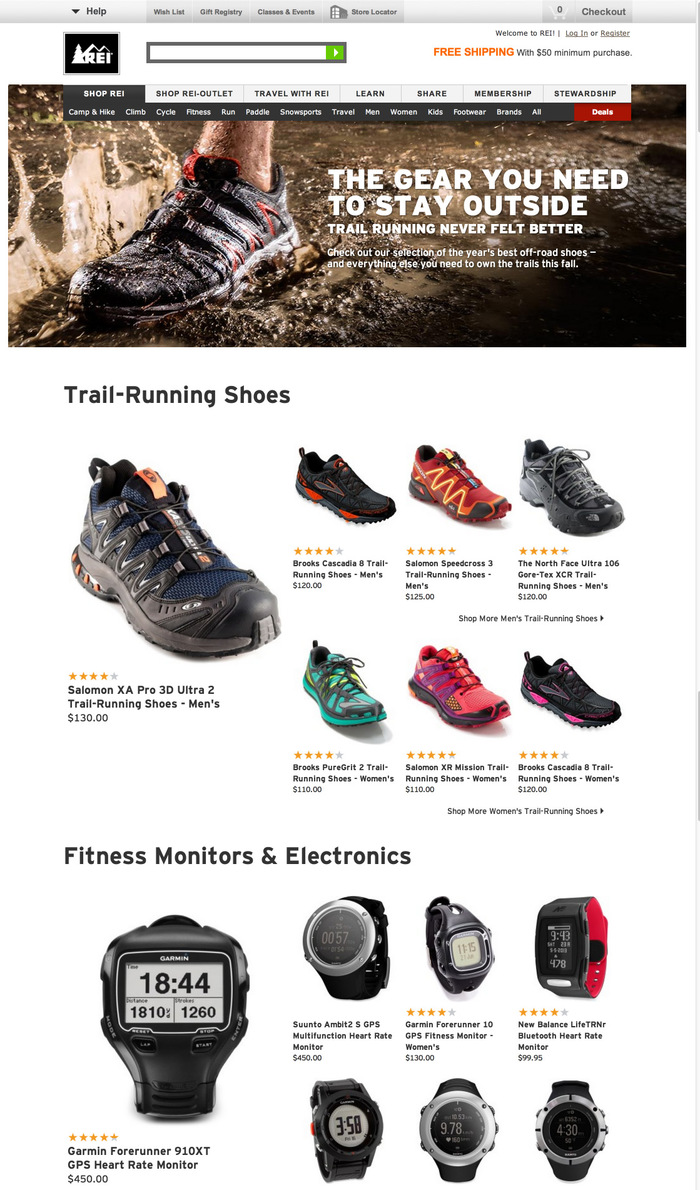 REI Websites, Catalog, and Video 6