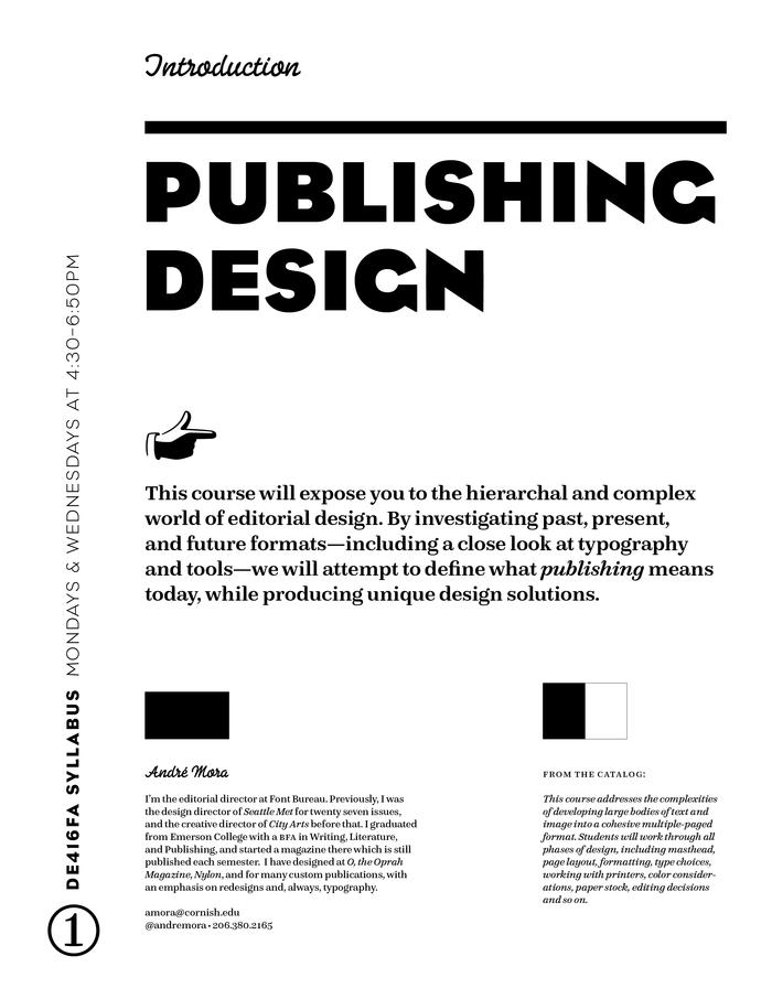 Publishing Design syllabus 1