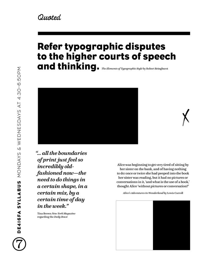 Publishing Design syllabus 2
