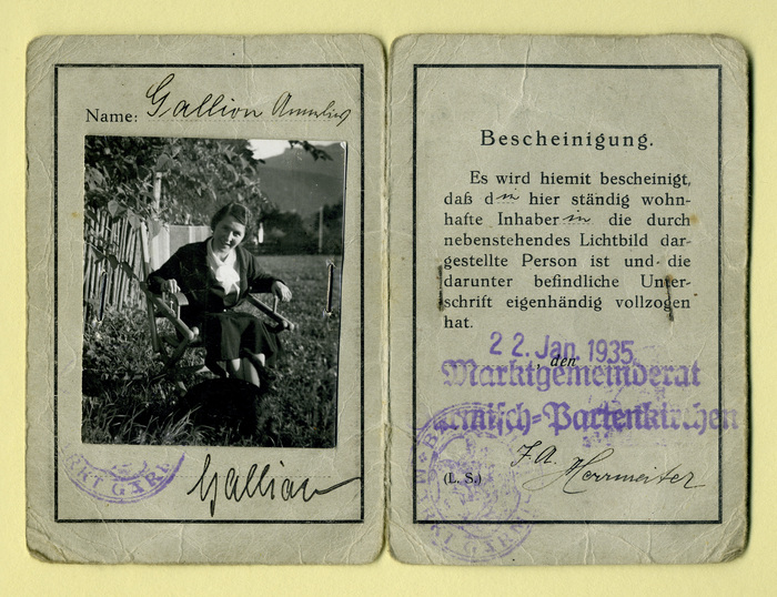 Lichtbild-Ausweis für die Wankbahn und die Kreuzeckbahn in Garmisch-Partenkirchen 2