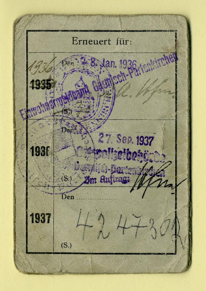Lichtbild-Ausweis für die Wankbahn und die Kreuzeckbahn in Garmisch-Partenkirchen 3