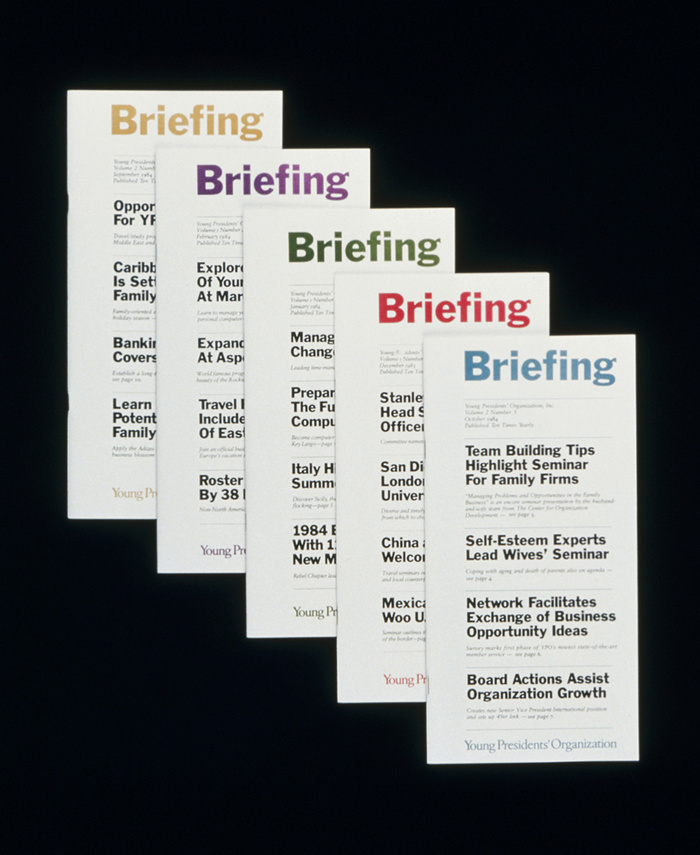 Young Presidents' Organization Briefing