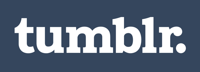 Current Tumblr logo, redrawn for 2013.
