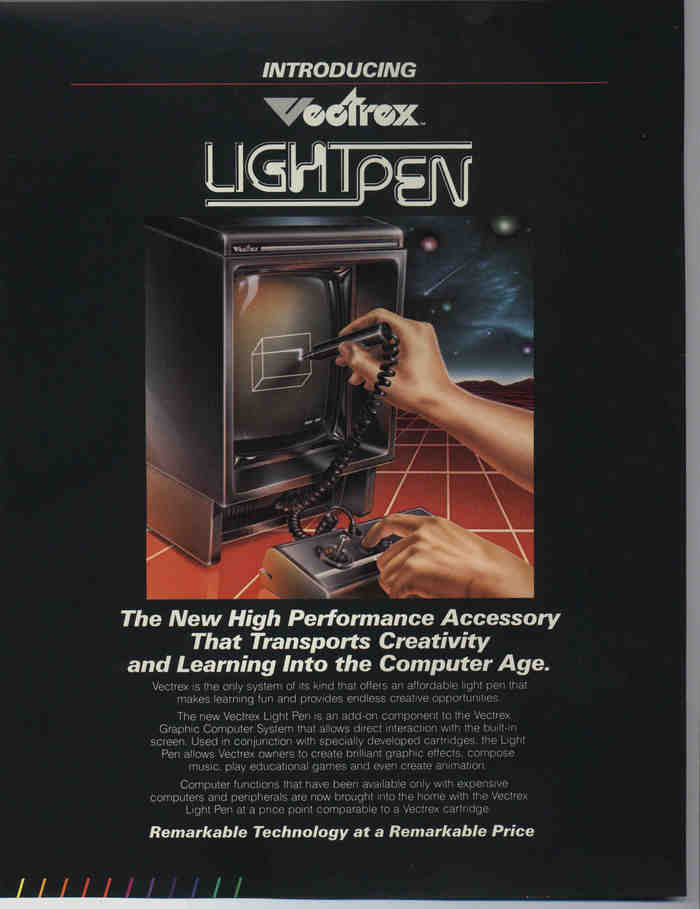 Vectrex Graphic Computer System brochure 2