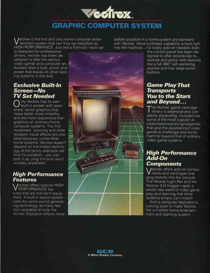 Vectrex Graphic Computer System brochure 3