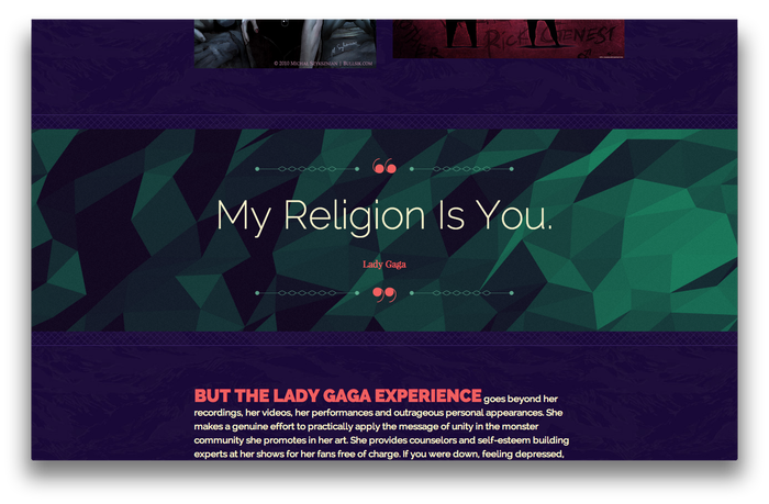 Lady Gaga feature website 3