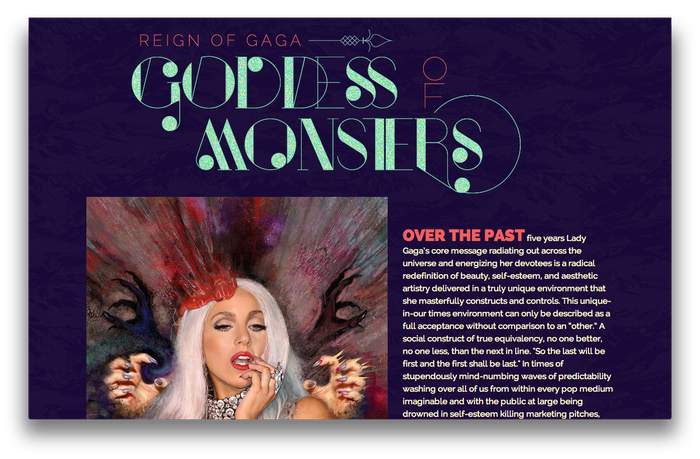 Lady Gaga feature website 4