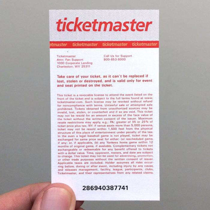 Ticketmaster Ticket Redesign Proposal 1