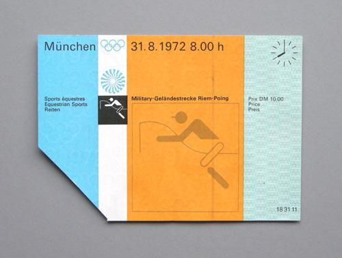1972 Munich Olympics tickets 1