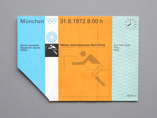 1972 Munich Olympics Tickets 1