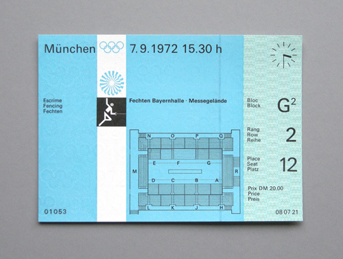 1972 Munich Olympics Tickets 3