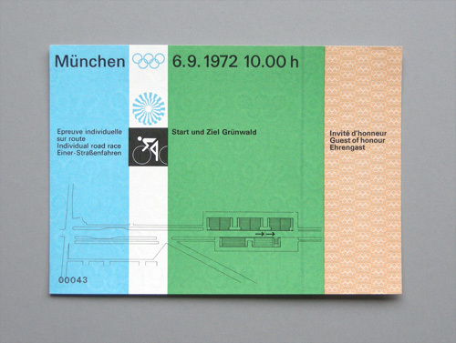 1972 Munich Olympics Tickets 2