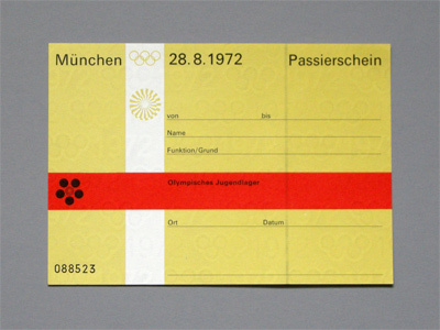 1972 Munich Olympics Tickets 4