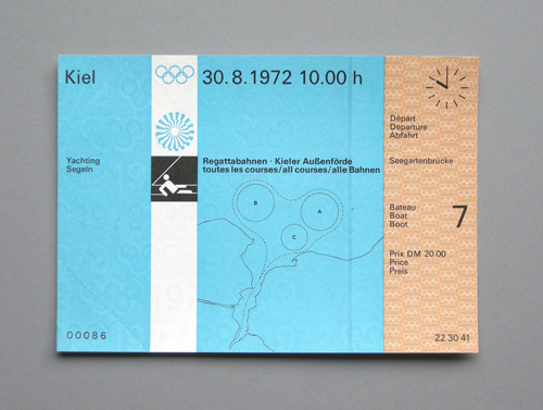 1972 Munich Olympics Tickets 5