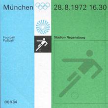 1972 Munich Olympics Tickets